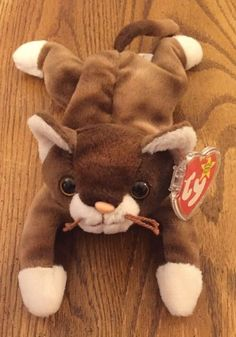 43ae582c1bb Ty Beanie Baby Pounce - MWMT (Cat 1997) Retired   Rare - Handmade. Ty  BeanieBeaniesVintage ToysPuzzlesCats And KittensPuzzleBeanie ...