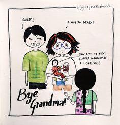 #joysofmotherhood: Bye Grandma!