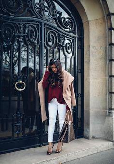 NOVEMBER 11, 2016 Bordeaux & Camel For Fall - COAT: local purchase   TURTLENECK: Express   DENIM: Frame   HANDBAG: Louis Vuitton   SUNGLASSES: Chloe   PUMPS: Christian Louboutin