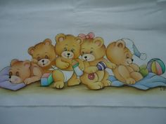 Tole Painting, Fabric Painting, Painting For Kids, Art For Kids, Tatty Teddy, Teddy Bear, Coloring Books, Coloring Pages, Teddy Pictures