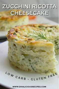 This zucchini ricotta cheesecake is a delicious savoury dish served either cold or from the oven. A delicious low carb and gluten free dish as an alternative to a quiche. Use 2 Bake about 40 minutes, keep in the oven for 15 minutes. Gluten Free Recipes, Low Carb Recipes, Vegetarian Recipes, Cooking Recipes, Healthy Recipes, Mexican Recipes, Italian Recipes, Healthy Cooking, Soft Food Recipes