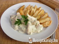 Sajtszószos csirkemell Mashed Potatoes, Meat, Chicken, Ethnic Recipes, Foods, Dishes, Living Room Ideas, Dekoration, Whipped Potatoes