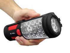 BELL & HOWELL TORCH LITE FLASHLIGHT AS SEEN ON TV~LED LIGHTS HIKING~NEW~RED~SKU7 #BELLANDHOWELLRED