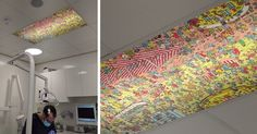 This Dentist Has A Ceiling 'Where's Waldo?' For Patients To Look At During Appointments | Bored Panda