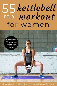6 exercises, 55 reps, total body strength and conditioning kettlebell workout. perfect at-home or gym workout that targets your full body – upper Kettlebell Training, Crossfit Kettlebell, Kettlebell Challenge, Workout Challenge, Kettlebell Exercises For Arms, Upper Body Kettlebell Workout, Burpee Challenge, Kettlebell Routines, Kettlebell Deadlift