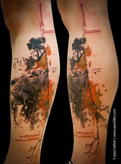 Interesting piece by Paul Talbot #InkedMagazine #lion #tattoo #tattoos #Inked #Ink #art #unique