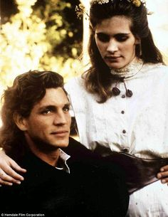 Their only collaboration: Emma's father happens to be Julia's older brother Eric Roberts, and the once-estranged siblings played siblings in the 1989 western drama Blood Red (pictured in 1986)