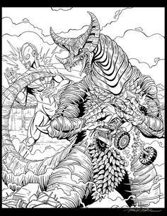 Gamora by kaijuverse on DeviantArt Gremlins, Godzilla, Line Art, Coloring Pages, Sci Fi, Creatures, Deviantart, Artist, Kids
