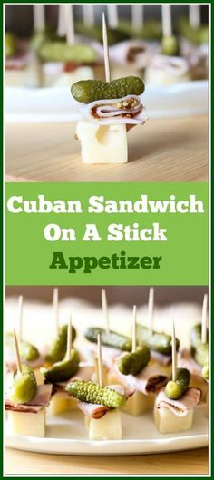 This Cuban Sandwich On A Stick Appetizer is so quick and easy to make. With only 4 ingredients, this is the perfect little party food. appetizers sandwiches Cuban Sandwich On A Stick Appetizer Quick And Easy Appetizers, Low Carb Appetizers, Finger Food Appetizers, Appetizers For Party, Appetizer Recipes, Keto Recipes, Appetizers On Skewers, Cuban Appetizers, Finger Foods For Party