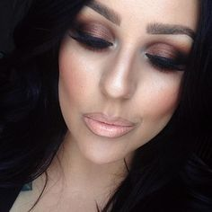 MAC Eyeshadows in Amber lights and Coppering ....with a blending ...