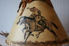 Rustic Native American Lamp Shade FREE SHIPPING by pluszranch, $100.00