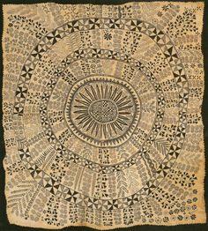Niuen Hiapo. c. 1850-1900, tapa or bark cloth, freehand painting.
