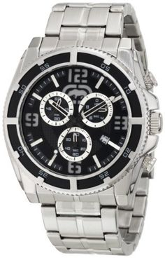 Rhino by Marc Ecko Men's E8M004MV Three-Eye Chronograph Sport Inspired Watch Rhino by Marc Ecko. $78.00. 3 eye chronograph. Bold contrast: black top ring on silver case. Water-resistant to 100 M (330 feet). Chronograph measures speed and distance up to 4 chronograph hours in 30 minute segments, 60 second sub dial and date feature. Attention grabbing detail: black multi-layered dial with silver accents; brushed/polished silver stainless steel bracelet. Save 35%!