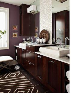 Baño con alfombra, ideal para el invierno. ;) www.came3.com