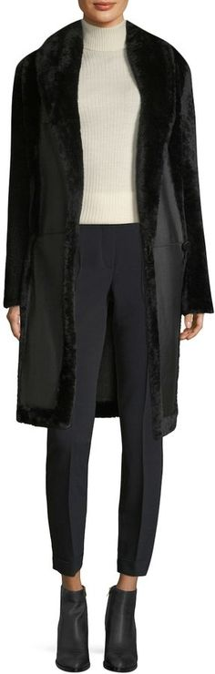Max Mara Women's Perigeo Rabbit Fur-Accented Coat