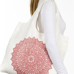 Envirosax Bags | Organic Linen Mandala | Reusable Shopping Bags from Rain Collection - Holds 22 lbs.