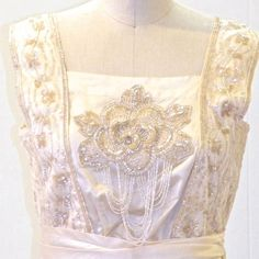 Edwardian Downton Abbey Dress Beaded Silk & Lace by daisyandstella, $300.00