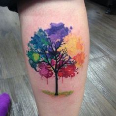 Gloomy Tree Tattoo. A tree tattoo collectively represent different emotions of life, with the meanings of understanding, femininity, healing, insight, good luck, beauty, wisdom, vitality, rejuvenation, generation and life.