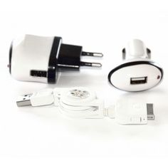 Dreiteiliges Ladegerät-Set bei www. Samsung, Usb Flash Drive, Headphones, Slipcovers, Headpieces, Ear Phones, Usb Drive
