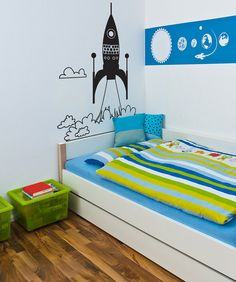 Vinyl Wall Decal Sticker Rocket Ship Take Off by Stickerbrand
