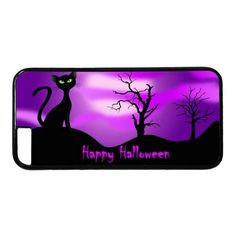 "Picture of Purple Sky Halloween Case for iPhone 6(4.7"") PC Material Black"