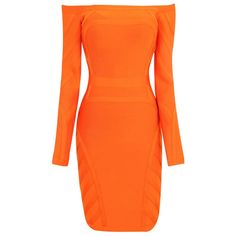 Herve Leger Longsleeve Orange Bandage Dress HLC305 5 dokuz limited offer,no duty and free shipping.#dress #dresses #womenfashion #herveleger #hervelegerdresses