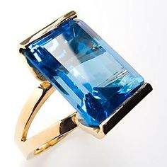 18 carat Blue Topaz ring - want this !!!