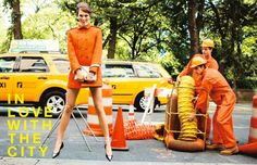 Patterns of the City – A mod Karlie Kloss takes to the New York City streets for the September issue of Vogue Japan. Captured by Arthur Elgort and styled by Giovanna Battaglia, Karlie goes from walking the dog to pushing the baby's stroller in colorful looks from Alberta Ferretti, Lanvin, Prada, Calvin Klein and others.