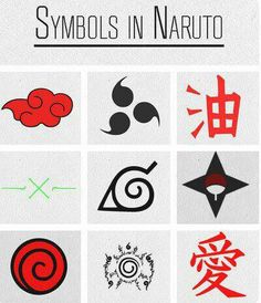 Symbols in Naruto well these are just a few there are like a billion more.