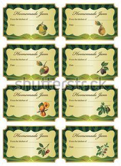 Etiquetas DE Vector Para Tarros DE Mermelada Casera DE Diferente imágenes prediseñadas (clip arts) - ClipartLogo.com