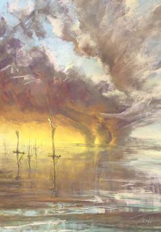 Original Nature Drawing by Katerina Pyatakova Nature Drawing, Ocean Drawing, Chalk Drawings, Art Drawings, Look At The Sky, Chalk Pastels, Pastel Drawing, Drawing People, Impressionism