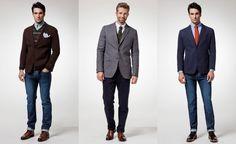 Ideas en looks para el día a día Casual Look For Men, Casual Looks, Suit Jacket, Breast, Suits, Jackets, Fashion, Style, Down Jackets