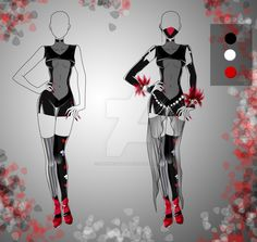 (closed) BUY NOW - Outfit: Bloody Shadow by CherrysDesigns on DeviantArt