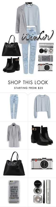 """Winter Sweater"" by zulfastley on Polyvore featuring Pull&Bear, MANGO, River Island, Prada, Leica, Agent 18, Bobbi Brown Cosmetics, Fallon, winterfashion and winterstyle"