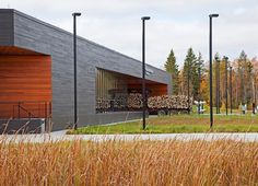 The United States Land Port of Entry by Coen+Partners   Port of Entry, north facade and wetland buffer