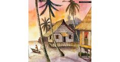 Village Scenery Painting on Canvas by Tam Zoyah Product Code: SCENE_002RZ-C Price : RM 48.00 Lets visit artpainting.my