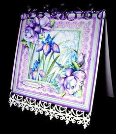 IRIS ROSES 8X8 Mini Kit Decoupage on Craftsuprint designed by Janet Briggs - made by Dianne Jackson