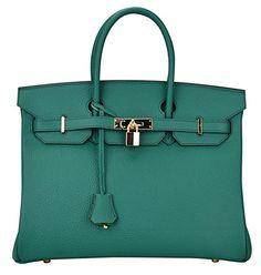 Ainifeel Women's Padlock Handbags with Golden Hardware (30cm, Dark green) Ainifeel http://www.amazon.com/dp/B00TU83GMW/ref=cm_sw_r_pi_dp_7T2swb00VAECS