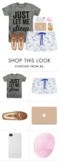 """my sick day outfit"" by teenageprep on Polyvore featuring Heidi Klum Intimates, UGG Australia, Incase and Eos"