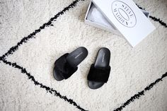 My latest obsession: Faux fur slides