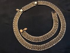KJL Cafe Society Necklace & Bracelet Set - Gold Tone with Swarovski Crystal Edges - S2434