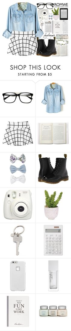 """Right where we are"" by alexandra-provenzano ❤ liked on Polyvore featuring Monki, New Look, Dr. Martens, Lux-Art Silks, Paul Smith, Muji, Case-Mate, NARS Cosmetics and Accessorize"