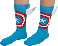 Winged Captain America Socks