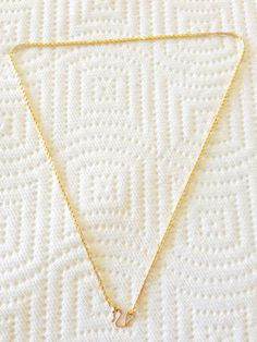 "Necklace, Cambodian design fine 18k yellow gold scale style, ""M"" style clasp"