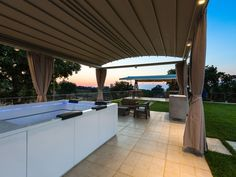 Atsipopoulo house rental - The top can be left open or be closed, depending on your mood and preference. Treehouse, Jacuzzi, Pergola, Villa, Relax, Outdoor Structures, Patio, Mood, Outdoor Decor