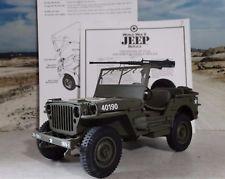 Danbury Mint WWII Military Jeep Replica US Army 1:16 Scale Diecast Custom Willys