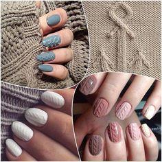 Manicure trendy 2016. Sweterkowe paznokcie, knit manicure - Sweterkowe paznokcie. Najmodniejszy manicure tej zimy!
