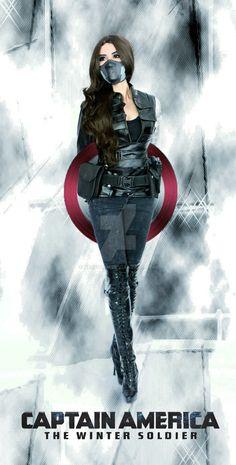 Female Bucky of Captain America. Marvel Comics, Marvel Art, Marvel Girls, Marvel Universe, Winter Soldier Cosplay, Soldier Costume, Avengers, Bucky And Steve, Halloween Disfraces