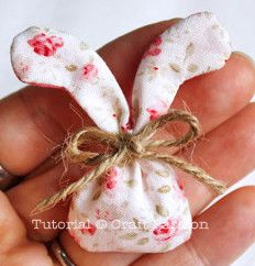 Fill this cute Easter craft with potpourri and hide these sweet smelling bunnies around your house.