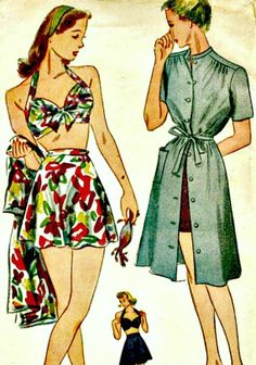 1940's Vintage Sewing Pattern  SIMPLICITY 1022 by ShellMakeYouFlip, $75.00